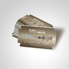 Get your razor blade #BusinessCards from @inkgility in Metal, or paper... Send us an email at sales@inkgility.com... #Metal #BusinessCards