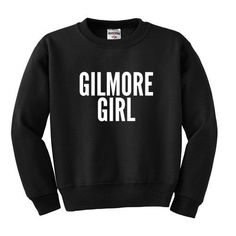 Fall into Gilmore and be the girl. Super soft, cotton blend, fleece lined, unisex apparel. Choose from a variety of color and style options with a front facing black graphic (Except black which has wh