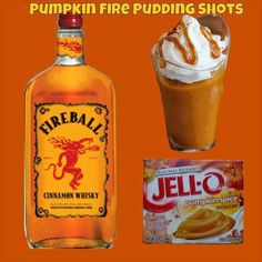 Pumpkin Fire Pudding Shots Ingredients: Sm Pumpkin Spice Instant Pudding ¾ c Whole Milk ¾ c Fireball Whisky 8oz Cool Whip (Extra Creamy preferred but not required) Directions: Whisk Whole Milk &amp...