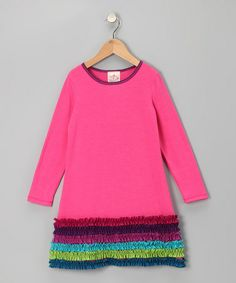 Take a look at this Fuchsia Ruffle Dress - Toddler & Girls by Freckles + Kitty and Me & Ko on @zulily today!