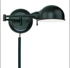 View the Lite Source LS-16753AGED/CP 1 Light Swing Arm Wall Lamp Aged Copper from the Rizzo Collection at LightingDirect.com.