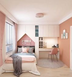 Smart Home Interior Design Ideas. In this video you will get some ideas that may help you to find the best Interior design for your apartment. Small Room Design Bedroom, Small Bedroom Interior, Small Bedroom Designs, Room Ideas Bedroom, Home Room Design, Interior Modern, Bedroom Decor, Bedroom Design Minimalist, Kids Bedroom Ideas