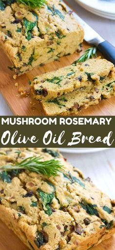 You won't be able to stop eating this savory Mushroom Rosemary Olive Oil Bread. It is really easy to make and is a fantastic side for soups! 179 calories and 6 Weight Watchers SP | No yeast | Quick bread | No knead rosemary | #nokneadbread #noyeast #oliveoilbread #quickbread #breadrecipe #weightwatchers