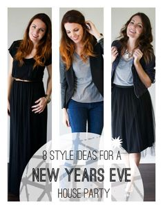 8 Style Ideas For a New Years Eve House Party maxi dresses, hous parti, outfit, tshirt maxi, house parties, maxi tshirt