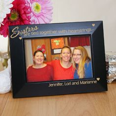 Personalized Engraved Sister Picture Frame