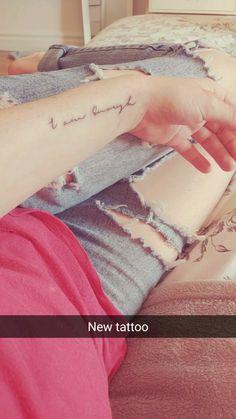 Tiny and feminine tattoo I am enough