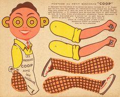 """Découpage publicitaire """"le petit bonhomme COOP"""""""