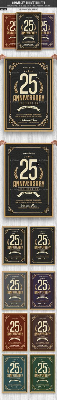 Anniversary Celebration Flyer Template PSD. Download here: http://graphicriver.net/item/anniversary-celebration-flyer/15376525?ref=ksioks