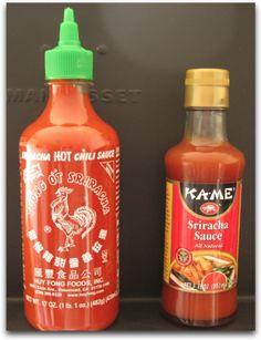 Comparar Sriracha:  Huy Fong y Sauces Ka-Me