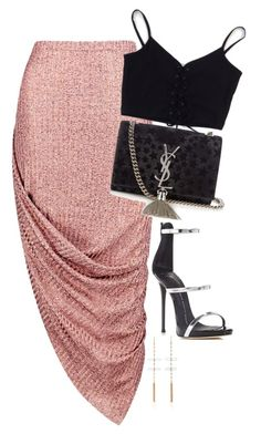 """2:07 PM"" by drewxcupcake ❤ liked on Polyvore featuring Giuseppe Zanotti, Boohoo, Jacquie Aiche, Yves Saint Laurent and vintage"