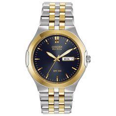 12a366af69 Men s Citizen Eco-Drive™ Corso Two-Tone Bracelet Watch with Blue Dial (