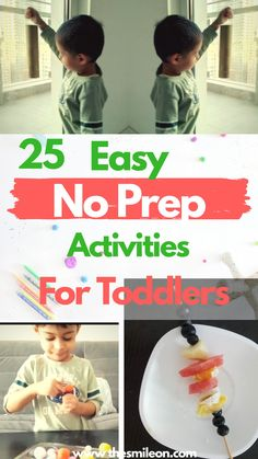 Can't take kids out? Here are 25 no prep activities to tire out your 18months to 3 year old on a rainy day. These are perfect for engaging 2 year olds and enhancing their motor skills. Toddler Play, Baby Play, Toddler Preschool, Family Activities, Toddler Activities, Preschool Activities, Thing 1, Messy Play, Boredom Busters