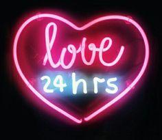 Hearts Neon lights pink