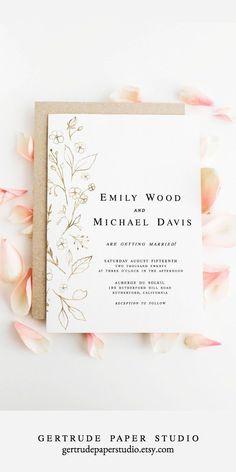 Wedding Invitations Elegant Modern, Minimalist Wedding Invitations, Wedding Invitation Templates, Wedding Stationery, Cool Wedding Invitations, Minimalist Invitation, Invitation Kits, Diy Invitations, Invites