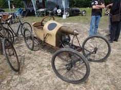 The Grafton Cyclecar .. Ash wooden chassis , 300cc JAP side valve engine , Sturmey Archer 3 speed gearbox , not much more than a motorbike with 4 wheels