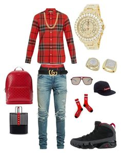 Untitled #72 by tikitress on Polyvore featuring Burberry, AMIRI, Calvin Klein, NIKE, Ted Baker, Gucci, Supreme, Prada, Rolex and men's fashion