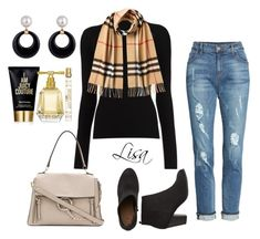"""""""New Horizon"""" by coolmommy44 ❤ liked on Polyvore featuring KUT from the Kloth, Burberry, Chloé and Juicy Couture"""