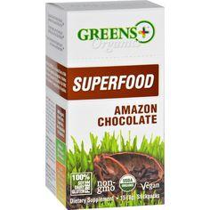 Greens Plus Superfood - Organic - Amazon Chocolate - 8 G - 15 Stickpacks