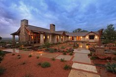 Secluded Hybrid Home, Timber Frames Residential Project Texas Style Homes, Ranch Style Homes, Ranch Homes, Ranch House Plans, Dream House Plans, Metal Building Homes, Building A House, Hill Country Homes, Texas Hill Country