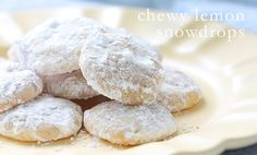 highly recommend you make these added bonus- you can eat the cookie dough with no worries (chewy snow drop cookies)