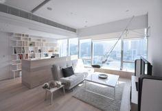 CASA CON VISTA A HONG KONG L'abitazione-ufficio in un ampio open space affacciato sul mare