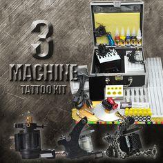 3 Machine Top Quality Tattoo Kit