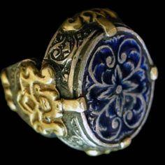 Iran | Gilt silver and enamel ring