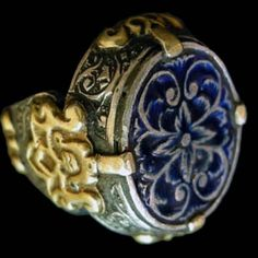 Iran | Gilt silver and enamel ring