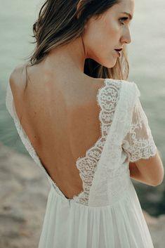 Beach Traditional Gowns, Handmade Wedding Dresses, Bridal Separates, Goddess Dress, Bohemian Bride, Gorgeous Fabrics, Chantilly Lace, Scalloped Lace, Stylish Dresses