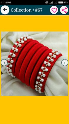 For reference only Trendy Jewelry, Diy Jewelry, Handmade Jewelry, Jewelry Design, Jewelry Making, Beaded Necklace Patterns, Jewelry Patterns, Beaded Bracelets, Silk Thread Bangles