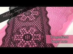 Learn how to make a homemade version of edible sugar lace perfect for cakes, cookies, and pastries using only three ingredients. 3 Ingredients: - CK Pre-Made. Cake Decorating Designs, Cake Decorating Videos, Cake Decorating Techniques, Cake Designs, Cookie Decorating, Edible Sugar Lace Recipe, Edible Lace, Icing Recipe, Sugar Veil