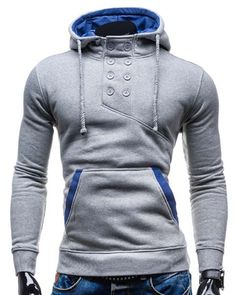 SHARE & Get it FREE | Double Breasted Pocket Hemming Slimming Hooded Long Sleeve Modish Cotton Blend Hoodie For MenFor Fashion Lovers only:80,000+ Items • New Arrivals Daily • Affordable Casual to Chic for Every Occasion Join Sammydress: Get YOUR $50 NOW!