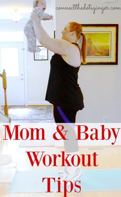 Mom and baby workout. Busy moms workout tips! How to workout with a baby tips! At home workout Baby Workout, Pregnancy Workout, Workout Tips, Pregnancy Months, Plus Size Pregnancy, Fit Pregnancy, At Home Workouts, Fitness Workouts, Plus Size Workout