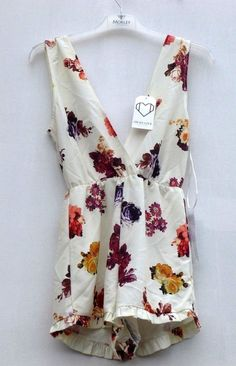 c239f733a59 Oh My Love Playsuit in Vintage Floral Print Size S UK 10 RRP 38 Box45 67 H   fashion  clothing  shoes  accessories  womensclothing  jumpsuitsrompers  (ebay ...