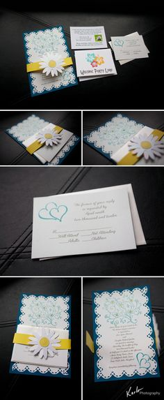 """Undoubtedly the BEST WEDDING INVITATIONS EVER!!!!!  And here is what Karlo has to say....  """"Check out this gorgeous wedding invitation I just received from a May bride!!"""""""