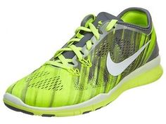 Nike Free 5.0 Tr Fit 5 Print Womens 704695-004 Volt Grey Training Shoes Size 10