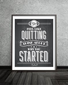 Motivational Typogrpahy Quote Poster  Quote Print  by BlackPelican