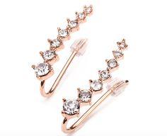 Crystal Ear Cuff Earrings