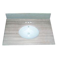 Vanity Countertop - x White/Grey Vanity Countertop, Countertops, Basin, Vanity Tops, Bath Ideas, Bathroom, Table, Inspiration, Furniture