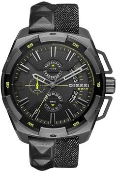 A Diesel Watch might be the classic, staple accessories for a man's wardrobe, but it is anything but typical. Diesel Watch, Gents Watches, Casio Watch, Omega Watch, Chronograph, Quartz, Leather, Accessories, Products