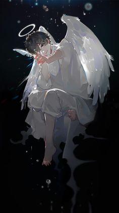 Anime Angel, Anime Fantasy, Fantasy Art, Fantasy Character Design, Character Art, Digital Art Anime, Cool Anime Guys, Anime Artwork, Dark Anime