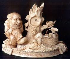sculpture in wood