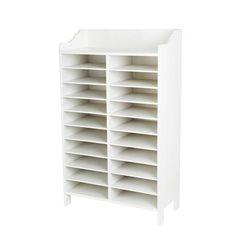 Hübsch White Wood Shelving Unit