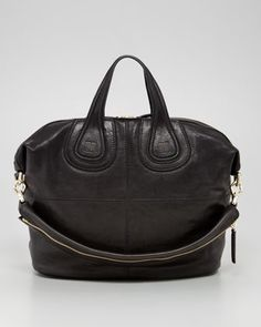 Givenchy Nightingale Zanzi Medium Leather Bag, Black - Bergdorf Goodman