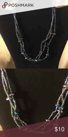 """Iridecent Beaded Necklace Multi-strand necklace. 16"""" Jewelry Necklaces"""
