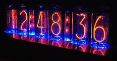The Nixie tube clock – Classic technique in a fine packaging - Decoration Gadgets And Gizmos, Cool Gadgets, Nixie Clock Kit, Nixie Tube Watch, Wet Lips, Blue Dream, Neon Lighting, Thanksgiving Decorations, Neon Signs