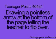 I used to do this all the time when i was in elementary