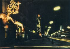 Warsaw on Postcards: Lata XX wieku / Warsaw, Multimedia, Neon Signs, Postcards, Concert, Art, Poland, Art Background, Kunst