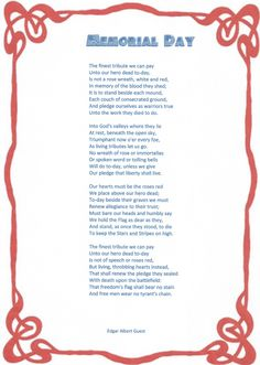 memorial day lyrics