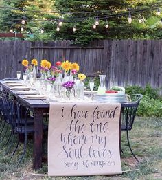 This is a beautiful 10 year wedding anniversary party idea ...